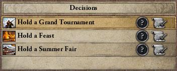 Decisions - Crusader Kings II Wiki