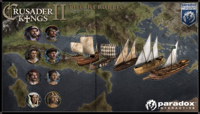 Merchant republic portraits and ships render picture